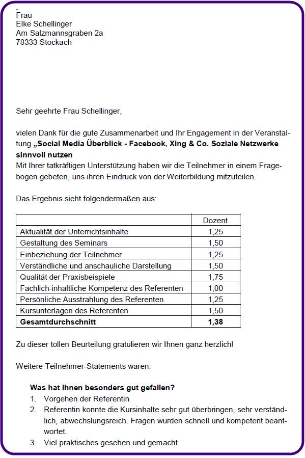 Bewertung Seminar Elke Schellinger 01