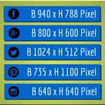 Optimale Bildgrößen für die wichtigsten Sozialen Netzwerke