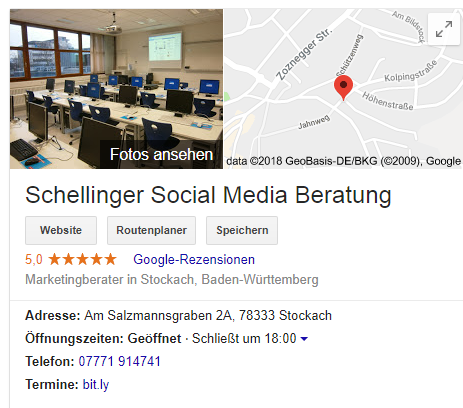 Bewertungen Google Maps - Virtulogix.com Internet Services