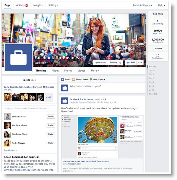 neues Facebook Design für Seiten ab März 2014